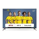 CHiQ Televisor Smart TV LED 32 Pulgadas, HD, HDR, Sintonizador Triple (DVBT / T2 / C / S2), Dolby Audio, Bluetooth,...