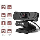 LOETAD Cámara Web Webcam 1080P Full HD con Micrófono Estéreo para Video Chat y Grabación Compatible con Windows, Mac...