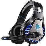 Auriculares Gaming con Micrófono, Reducción de Ruido, Auriculares con Cable para PS4,PC,Xbox One,Nintendo Switch,...