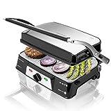 Cecotec Rock'n Grill 1500 Take&Clean -  Parrilla Eléctrica, Revestimiento RockStone, Desmontables y Aptas para...