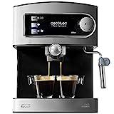 Cecotec Power Espresso 20 Cafetera Presión 20 Bares, Depósito de 1,5L, Brazo Doble Salida, Vaporizador, Superficie...