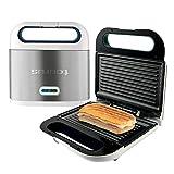Taurus Sandwichera Phoenix Luxe, grill, resultados crujientes, placas antiadherentes 21.5x12.5 cm, indicador luminoso de...