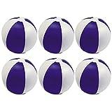 eBuyGB - Pack de 12 Pelotas de Colores inflables para Juegos de Piscina de Playa, Color Morado, 22 cm