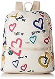 Desigual - Bag Natural Message Novara Women, Bolsos mochila Mujer, Blanco (Crudo), 12x35.3x28.7 cm (B x H T)