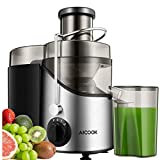Licuadoras Para Verduras y Frutas, Aicook 3 Velocidades Licuadora Prensado Frio Extractor de Zumos Boca Ancha de 65mm,...