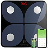 Báscula de Baño Digital Báscula Inteligente Báscula Grasa Corporal Bluetooth, Wireless Báscula Analizar Más de 13...