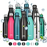 Umi. by Amazon - Botella Agua Acero Inoxidable, Termo 500ml, Sin BPA, Islamiento de Vacío de Doble Pared, Botellas...