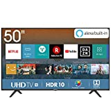 Hisense H50BE7000 - Smart TV 50' 4K Ultra HD con Alexa Integrada, 3 HDMI, 2 USB, salida óptica y de auriculares, Wifi,...