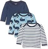 Care 550141 Camisa Manga Larga, Multicolor (Deep Skye Blue), 18 Meses/86 cm, Pack de 3