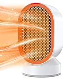 Nobebird Calefactor eléctrico, Calefactor portátil de 600W con protección contra sobrecalentamiento e inclinación,...