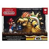 Glop Games Bros, Bob Figuras Nintendo-Set Diorama Mario vs Browser-Incluye BOM-OMB para darle Mayor emoción, Color...
