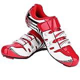 VGEBY1 Zapatillas de Bicicleta, Calzado SPD System Lock para Hombre(43-Rojo)