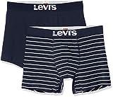 Levi's Levis Men Vintage Stripe YD Boxer 2P, Multicolor (Navy 321), Large (Pack de 2) para Hombre