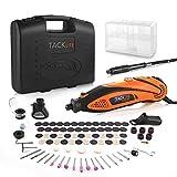 TACKLIFE Mini Amoladora Eléctrica Advanced Professional Kit de Herramientas Rotatorias Multifunción con 80 Accesorios...
