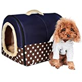 ACTNOW - casa de mascotas y sofá portátil 2 en 1, antideslizante para perro o gato, cálido y adorable, 3 tamaños,...