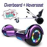 COLORWAY Hoverboard 6,5' 700W con Ruedas de Flash LED, Altavoz Bluetooth y LED, Autoequilibrio de Scooter Eléctrico...