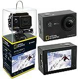 National Geographic Action CAM Explorer 2 Full-HD - Cámara de acción (140°, WLAN, Pantalla LCD de 2', HDMI, Varios...