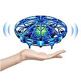 UTTORA Mini Drone para Niños Flying Toy Recargable UFO Helicóptero 360°Rotación Libre A Mano Drones Regalos para...