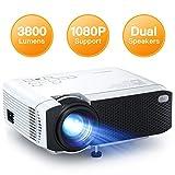 Proyector, APEMAN Mini Proyector Portátil en Casa, Soporte HD 1080P, 3800 Lúmenes, Pantalla Grande, Altavoces Duales,...