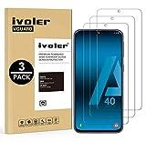 VGUARD [3 Unidades] Protector de Pantalla para Samsung Galaxy A40, Cristal Vidrio Templado Premium para Samsung Galaxy...