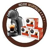 Pack Krups Dolce Gusto Mini Me KP1208 - Cafetera de cápsulas, 15 bares de presión, color negro y gris + 90 cápsulas...