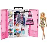 Barbie - Fashionista Armario Portable con Muñeca Incluida, Ropa, Complementos y Acce (Mattel GBK12)