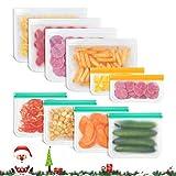 Godmorn Bolsas Reutilizables de Almacenamiento de Alimentos,Biodegradables, Bolsas Congelar Reutilizables,10Paquetes...