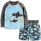 Simple Joys by Carter's traje de baño de 2 piezas para bebés y niños pequeños ,Ballenas azules ,3-6 Meses
