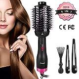 Beainfir - Secador de pelo 5 en 1, 1000 W, multifunción, cepillo de aire caliente, cepillo de pelo liso para todos los...