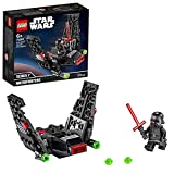 Lego Star Wars  - Microfighter: Lanzadera de Kylo Ren, Set de Construcción de Nave con Alas Plegables, Juguete de La...
