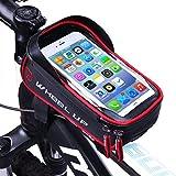 Bolsa Bicicleta Cuadro - WheelUp 6' Soporte Movil Bicicleta - Impermeable Bolsa Bici Manillar de Teléfono Celular con...