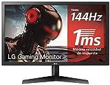 LG 24GL600F-B - Monitor Gaming QHD de 59,8 cm (24') con panel TN (1920 x 1080 píxeles, 16:9, 1 ms, 144Hz, FreeSync LFC,...