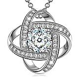 Alex Perry Regalos para Mujer San Valentín mujer collares cadena de plata zirconia colgante joyas para mujer regalos...