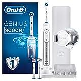 Oral-B Genius 8000N CrossAction - Cepillo Eléctrico, 1 Plata Mango Conectado, 5 Modos Blanqueado, Sensible, Encías, 3...