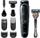 Braun Recortadora MGK5280 9 en 1, Máquina recortadora de barba, set de depilación corporal y cortapelos para hombre,...