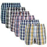Lower East American Style, Bóxer, Hombre (Pack de 6), Multicolor (Karos), Medium