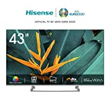 Hisense H43BE7400 - Smart TV ULED 43' 4K Ultra HD, 3 HDMI, 2 USB, salida óptica, Wifi, Bluetooth, Dolby Vision HDR,...