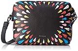 Desigual - Bols_tears Splatter Marvin, Bolsos bandolera Mujer, Negro, 8x17x24 cm (B x H T)