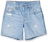 Levi's 501 Long Pantalones Cortos, Azul (Montgomery Mended Short 0013), W28 (Talla del Fabricante: 28) para Mujer