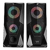 Woxter Big Bass 80 FX - Altavoces estéreo 2.0, Elegantes, con Leds ambientales, Rejilla metálica, 15W de Potencia,...