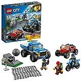 LEGO City Police - Caza en la Carretera, Juguete de Policía de Construcción con Todoterreno y Moto para Niños y...