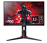 AOC 24G2U5/BK Monitor  - Pantalla para PC de 24' Full HD e-Sports (IPS, 1ms, AMD FreeSync, 75 Hz, Sin Marco, Ajustable...