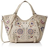 Desigual - Bag Apolo Rotterdam Women, Shoppers y bolsos de hombro Mujer, Blanco (Crudo), 15x30x31 cm (B x H T)
