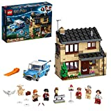 LEGO HarryPotterNúmero 4 de Privet Drive SetconFordAnglia,Figura de Dobbyy FamiliaDursley, Multicolor...