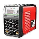 GREENCUT MMA200 - Soldador inverter turbo ventilado de corriente continua DC, 200A, Potencia Regulable, con Tecnología...