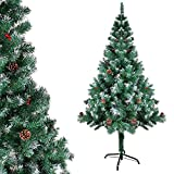 OZAVO Árbol de Navidad Blanco Artificial Nevado con Piños 210cm 700 Ramas,Decoración Navideña,Maxi-Relleno PVC...