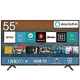 Hisense H55BE7000, Smart Tv 55' 4K UltraHD con Alexa Integrada, Negro