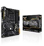 ASUS TUF B450-PLUS GAMING - Placa base de gaming ATX AMD B450 con iluminación Aura Sync, soporte de DDR4 3200 MHz, M.2...