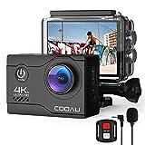 COOAU 4K Camara Deportiva 20MP WiFi Underwater 40M Puede usarse como. con Control Remoto y micrófono Externo Cámara de...