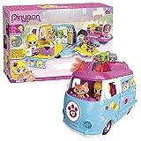 Pinypon Ambulancia de mascotas - Incluye muñeca, mascota y accesorios (Famosa 700012751)